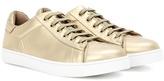 Gianvito Rossi Low Top Metallic Leather Sneakers