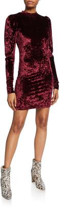 Caroline Constas Lulu Long-Sleeve Velvet Mini Dress