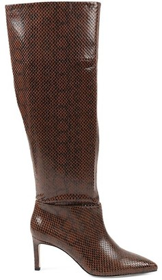 BCBGeneration Marlo Snakeskin-Print Slouch Boots