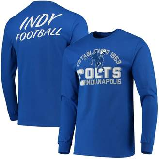 Junk Food Clothing Unbranded Men's Royal Indianapolis Colts Established Long Sleeve T-Shirt