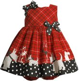 Bonnie Baby Scotty Border Print Dress