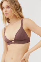 Vitamin A Neutra Metallic Bralette Bikini Top