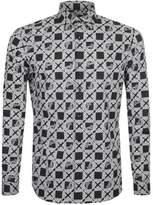 Versace Collection Long Sleeved Logo Shirt Black