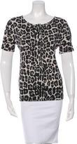 Bottega Veneta Short Sleeve Leopard Print Top w/ Tags