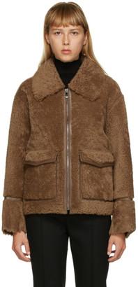 Yves Salomon Meteo Yves Salomon - Meteo Brown Merino Shearling Jacket