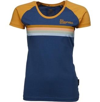 Crosshatch Womens Clotilda CH LDS Raglan Stripe T-Shirt Navy