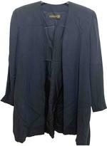 Donna Karan Navy Silk Jacket for Women