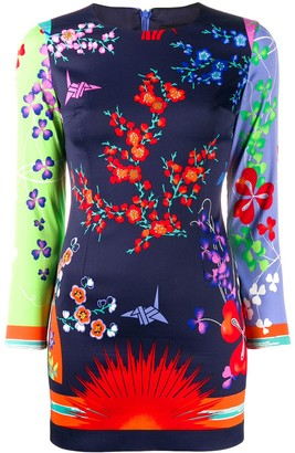 Versace Pre-Owned 2000 floral patchwork dress