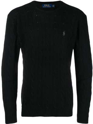 Polo Ralph Lauren Cable-Knit Logo Embroidered Jumper