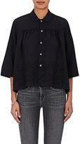 Comme des Garcons Women's Flower-Appliquéd Wool Shirt