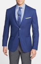 Corneliani Classic Fit Wool & Flax Blazer