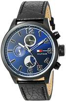 Tommy Hilfiger Men's Quartz Resin and Leather Casual Watch, Color:Black (Model: 1791241)