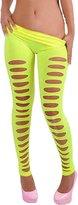 TRURENDI Women's European Super Sexy Candy Color Skiny Slim Hole Pants Leggings