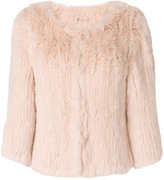 Yves Salomon Accessories collarless cropped fur jacket