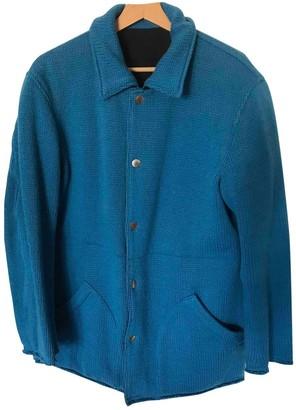 Comme des Garcons Blue Wool Jackets