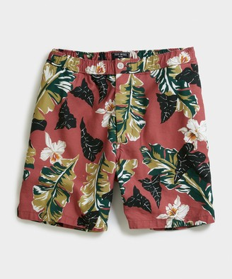 "Todd Snyder 7"" Pool Short in Red Floral"