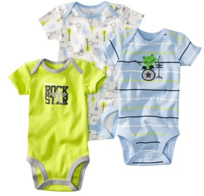 Carter's JUST ONE YOU Made by Infant Boys 3 Pack Bodysuit Set - Blue