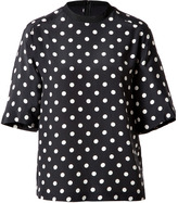 3.1 Phillip Lim Silk Short Sleeve Polka Dot T-Shirt