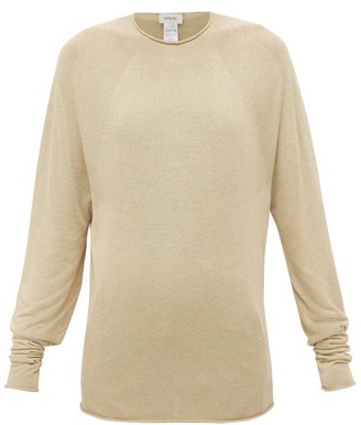 Lemaire Rolled-edge Jersey Sweater - Womens - Beige