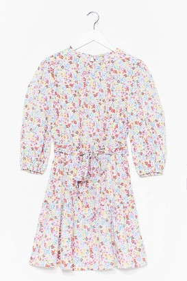 Nasty Gal Womens So Much Love to Give Floral Dress - Baby Blue