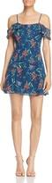 WAYF Gavan Cold-Shoulder Floral Print Dress