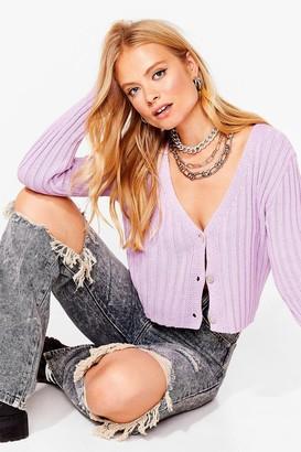 Nasty Gal Womens Do What Knit Takes Chunky Knit Cardigan - Purple - 8, Purple