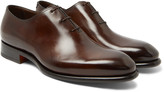 Santoni Burnished-Leather Oxford Shoes