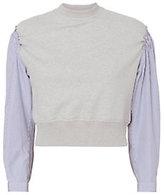3.1 Phillip Lim Poplin Sleeve Sweatshirt