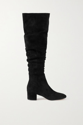 Gianvito Rossi 45 Suede Over-the-knee Boots - Black