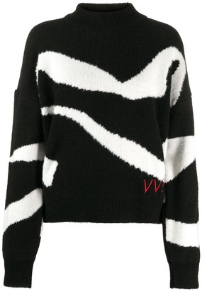 Victoria Victoria Beckham Abstract Pattern Jumper