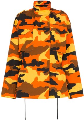 Off-White Camouflage Print Parka