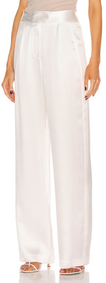 Mason by Michelle Mason Wide Leg Trouser in Ivory | FWRD