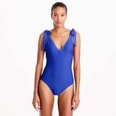 J.Crew Shoulder-tie one-piece swimsuit
