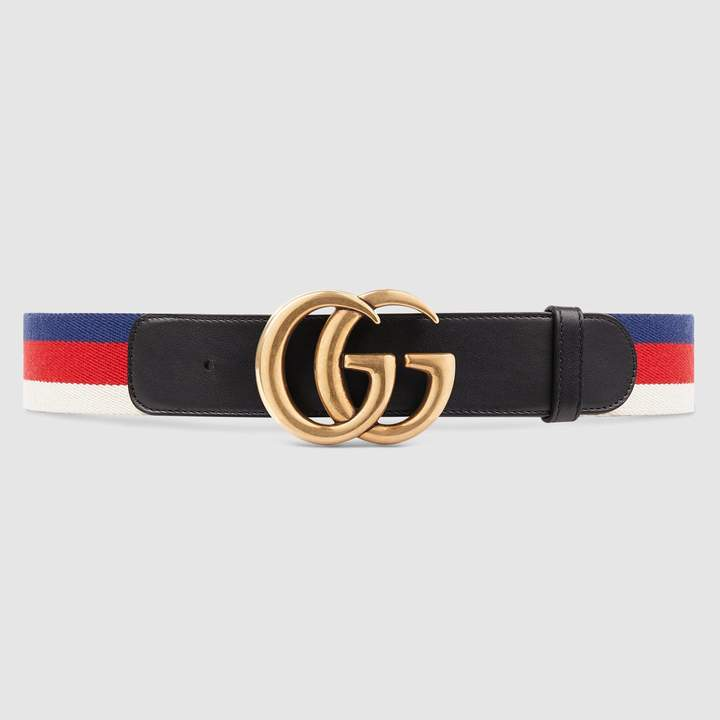 Gucci Sylvie Web belt with Double G buckle