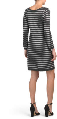 Made In Italy Stripe Sweater Dress