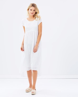 Privilege Women's White Party Dresses - Midi Length Dress - Size One Size, 8 at The Iconic