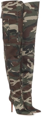 Vetements Camo canvas over-the-knee boots