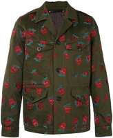Paul Smith embroidered strawberry jacket - men - Cotton/Linen/Flax/Cupro - M