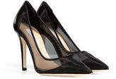 Diane von Furstenberg Leather/Mesh Bianca Pumps in Black