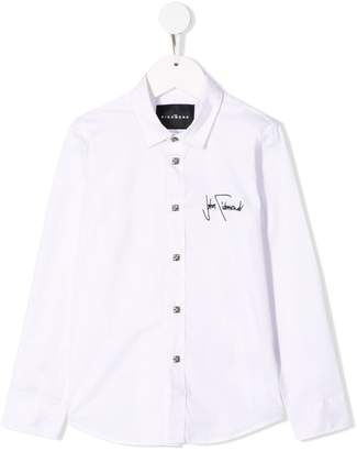 John Richmond Junior embroidered logo shirt