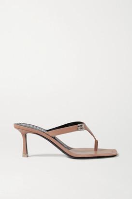 Alexander Wang Ivy Crystal-embellished Leather Sandals - Beige