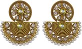 Matra Traditional Goldtone Dangle Earring Set Ethnic Bollywood Party Designer Jewelry