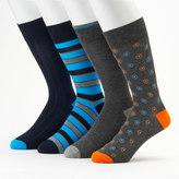 Croft & Barrow Men's 4-Pack Pattern Dress Socks