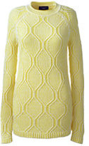 Classic Women's Tall Cotton Rollneck Sweater-Sour Lemon Marl