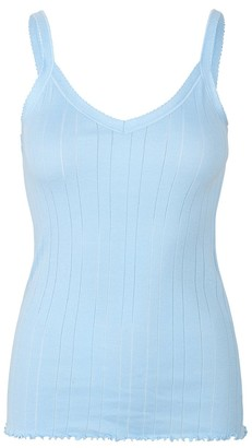 Mads Norgaard Soft Sky Blue Pointella Trille Top - XSMALL