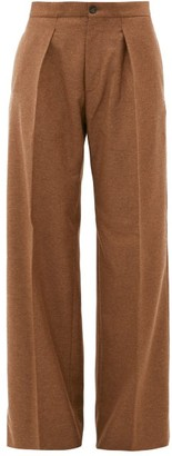 Connolly - Pleated Wide-leg Felted-twill Trousers - Camel