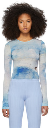 Acne Studios Blue Landscape Painting Long Sleeve T-Shirt