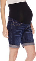 Asstd National Brand Maternity Overbelly Bermuda Shorts