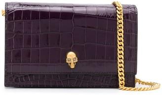 Alexander McQueen Skull crocodile-effect crossbody bag