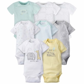 Gerber Baby 8 Pack Short-Sleeve Onesies Bodysuits Multi-Pack